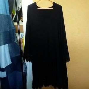 Simply be black stunning jersey and lace dress